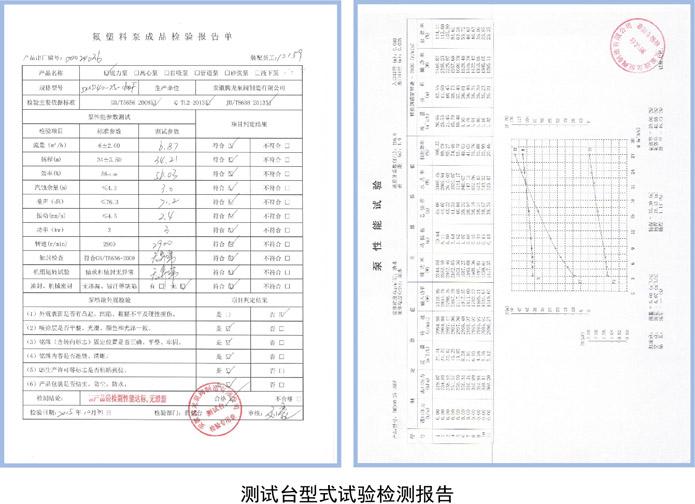 IMD-F磁力泵检测报告