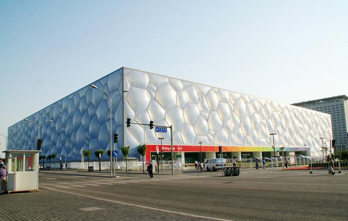 ETFE膜材料运用,水立方