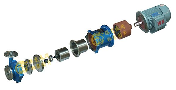 不锈钢磁力泵零件安装图