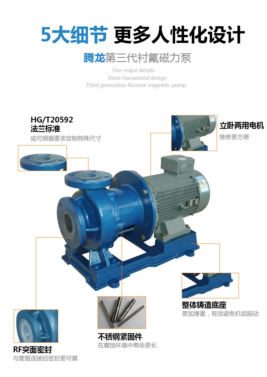 氟塑料磁力泵人性化设计