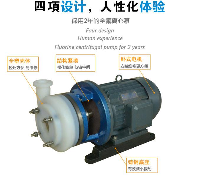 fsb-d氟塑料合金离心泵结构原理图-fsb-d氟塑料合金泵