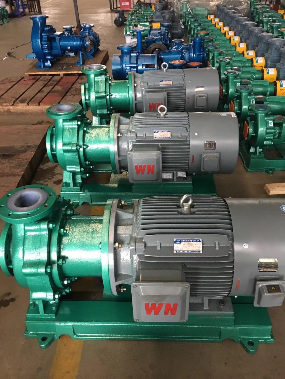 客户定制衬氟磁力泵125TMF-50,配皖南变频电机