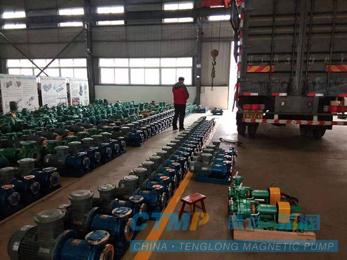 158台不锈钢磁力泵发往葫芦岛项目