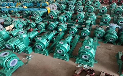 16台IHF50-32-160衬氟离心泵发往裕隆化工新材料公司