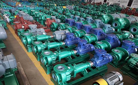 一批IHF50-32-200氟塑料离心泵、机封、叶轮发往江苏联化科技