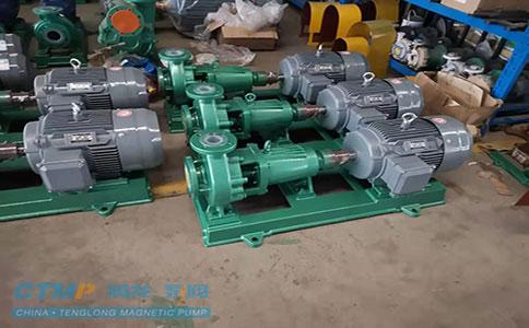 一批IHF65-50-125氟塑料离心泵发往英科医疗