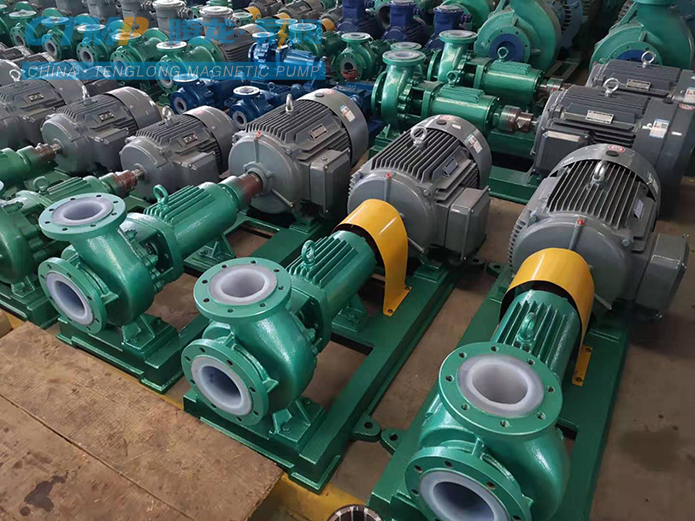 IHF80-50-200氟塑料离心泵正在装车发往嘉德化工