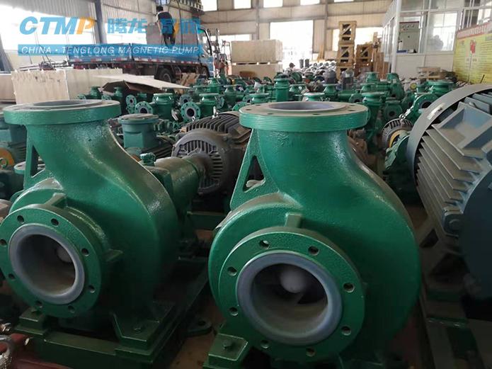 腾龙IHF150-125-250四氟离心泵发往华泰集团