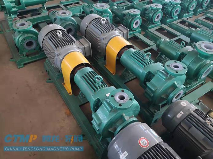 腾龙IHF125-100-200衬氟离心泵发货现场