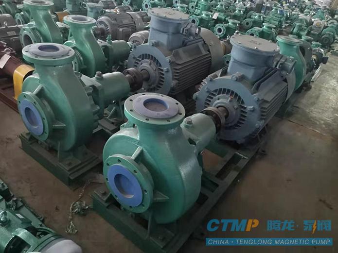 腾龙IHF150-125-400氟塑料离心泵正在发往联邦制药