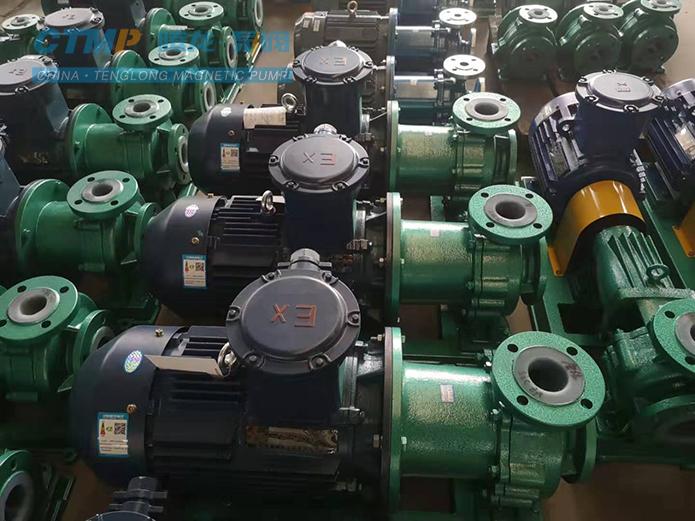 CQB80-65-125衬氟磁力驱动泵发往中海化工