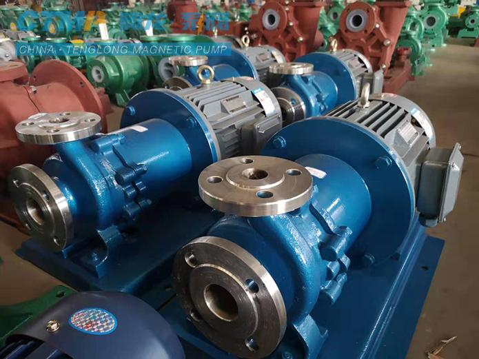 腾龙CQB40-25-200不锈钢磁力泵发往沈阳医药