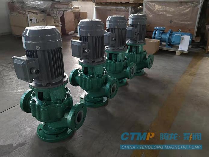 腾龙32GD-20F衬氟管道泵发往利尔化学