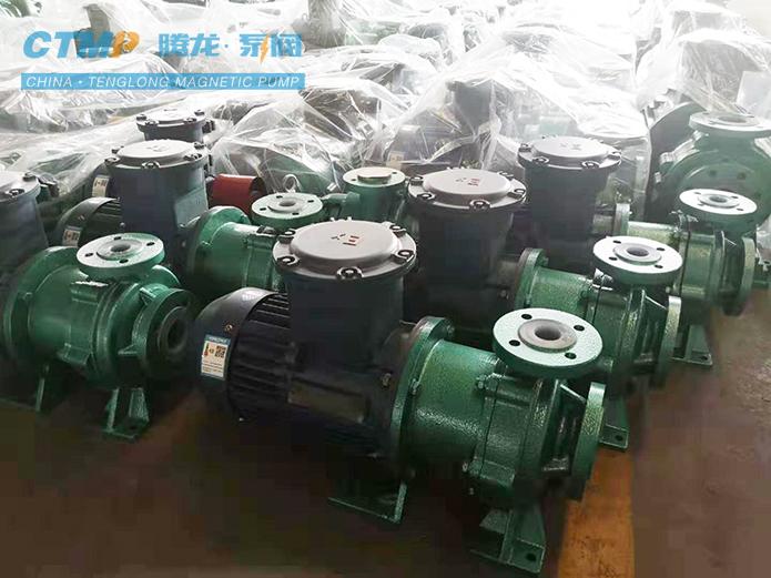腾龙IMD40-25-165氟塑料磁力泵发往杭州电化