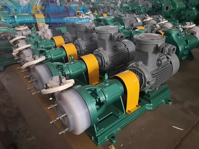 腾龙40FSB-20氟塑料合金离心泵发往江铜集团