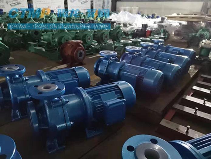 腾龙IMD40-25-150氟塑料磁力泵发往金禾生化集团