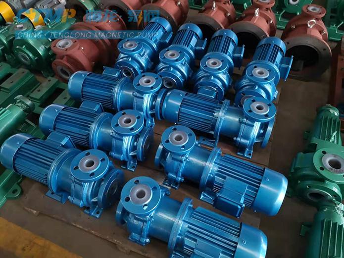 腾龙IMD50-40-165氟塑料磁力泵发往七彩化学