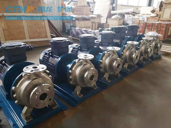 腾龙CQB40-25-160不锈钢磁力泵发往司利太制药