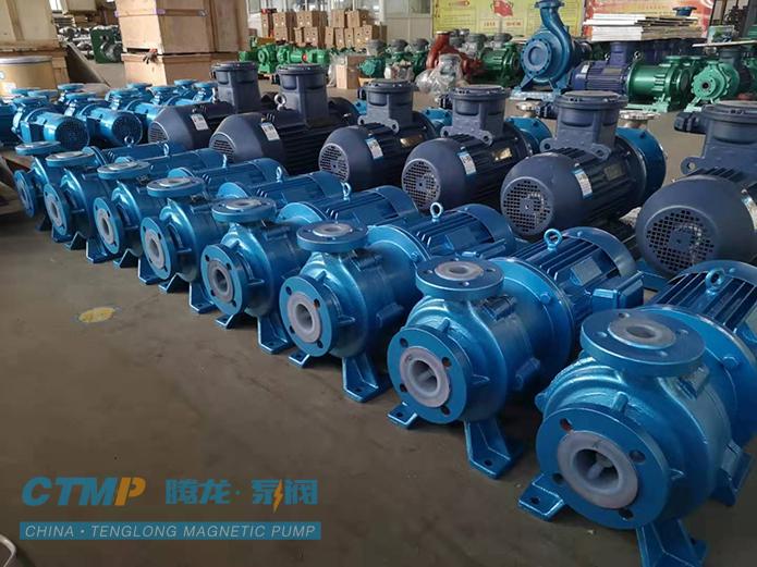 安徽腾龙IMD50-40-160氟塑料磁力泵发往山东焦化集团