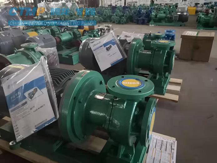 腾龙CQB80-50-250氟塑料磁力泵发往海湾化学