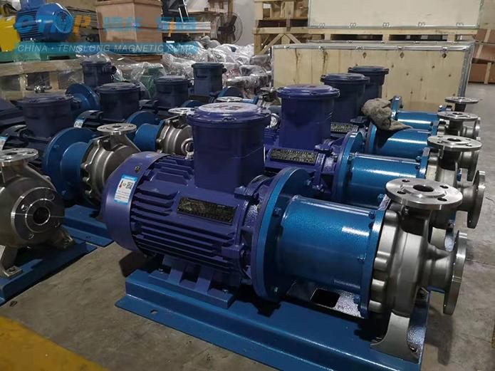 腾龙CQB65-40-200不锈钢磁力泵发往联邦制药
