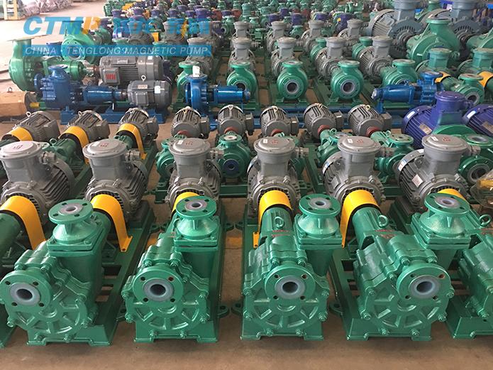 腾龙FZB衬氟自吸泵发往华星化工