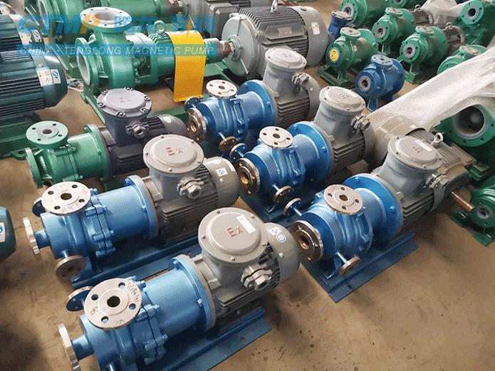 腾龙定制不锈钢保温磁力泵发往辉丰农化