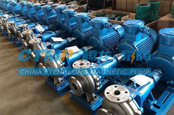 腾龙一批IH65-50-160不锈钢离心泵发往得利化工
