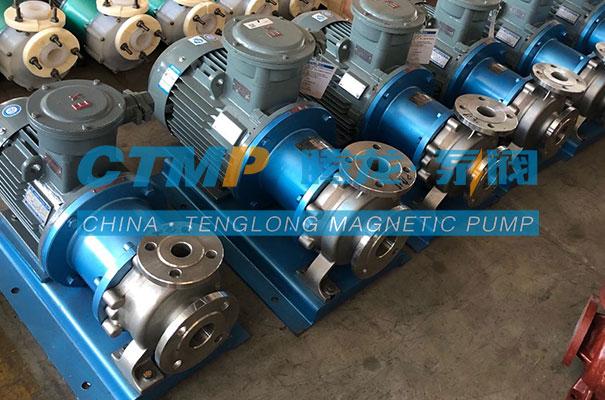 腾龙一批TMC80-65-125-P不锈钢磁力泵发往山东天绿制药