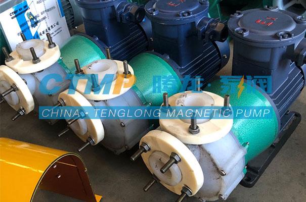 腾龙CQB-P氟塑料合金磁力泵发往天津多福源实业