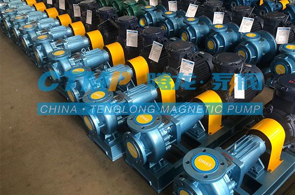 腾龙一批IHF氟塑料离心泵发往平江华众新材料