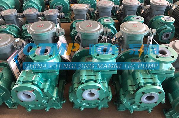 腾龙一批氟塑料自吸泵发往营口恒洋新能源化工