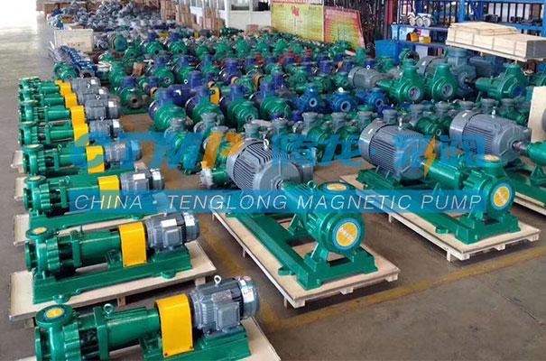 腾龙一批氟塑料离心泵、磁力泵发往浙江尖峰药业