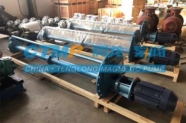 腾龙定制不锈钢液下泵发往国强建设集团