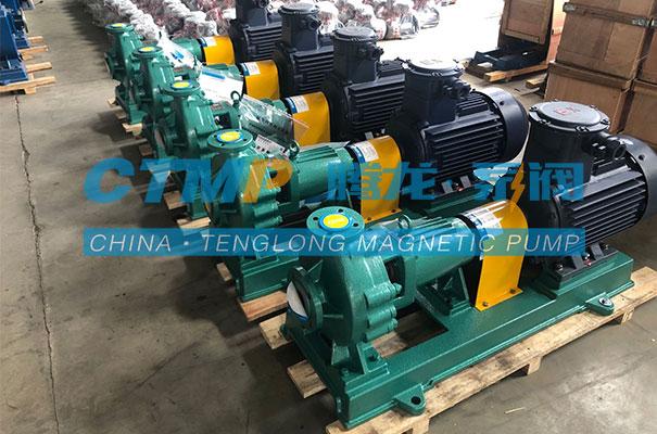 腾龙IHF80-65-160氟塑料离心泵发往朝阳金达