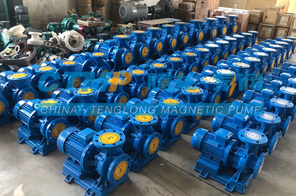 腾龙一批项目用ISW卧式管道泵发货