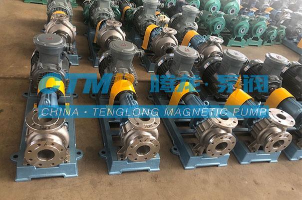 腾龙一批不锈钢离心泵发往青岛亚博生物科技