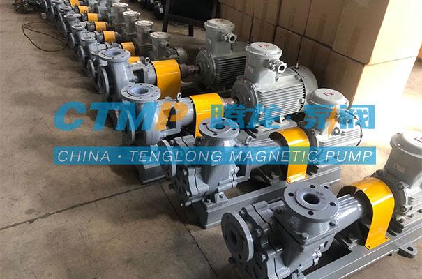 腾龙一批氟塑料离心泵发往贵州中寰新材料