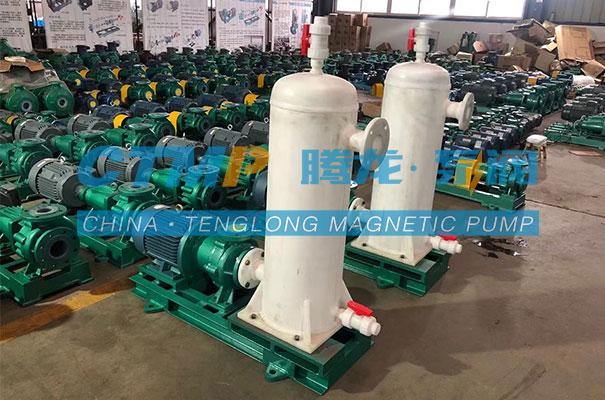 腾龙定制款TMF氟塑料磁力泵发往合肥茂腾环保