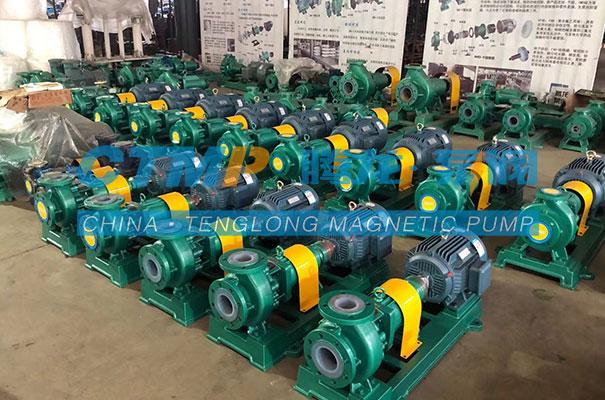 腾龙一批项目用IHF氟塑料离心泵发往山东淄博