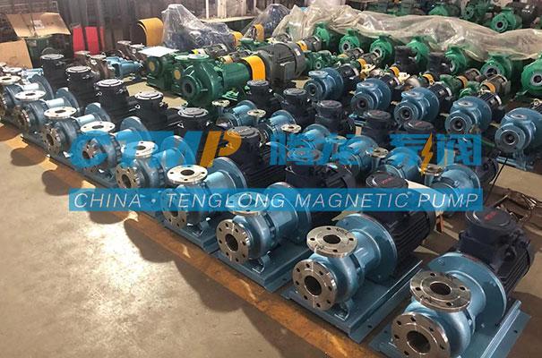 腾龙一批TMC不锈钢磁力泵出口到马来西亚