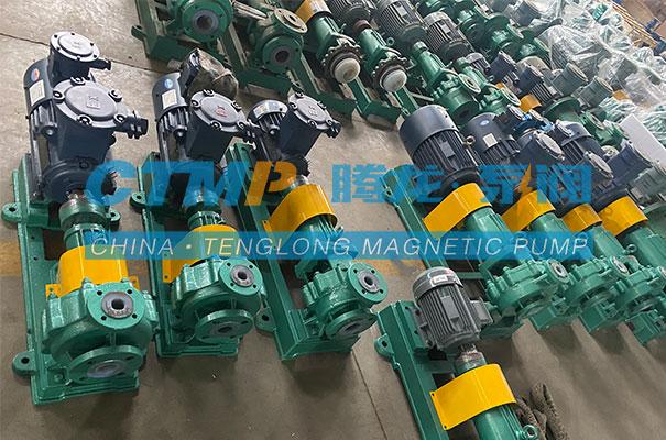 腾龙一批IHF氟塑料离心泵发往贵州信科