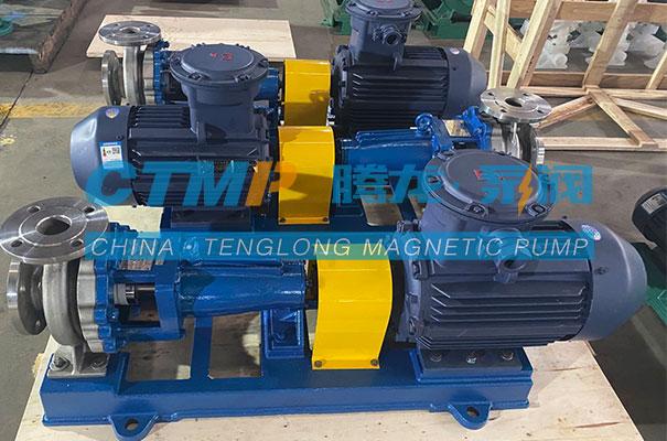 腾龙一批IH不锈钢离心泵发往上海极东贸易