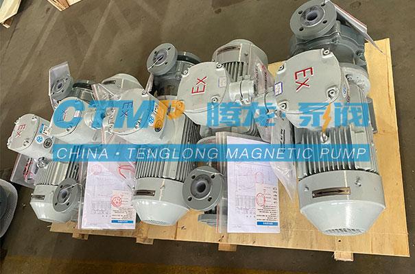 腾龙一批TMF氟塑料磁力泵发往沈阳北碳密封