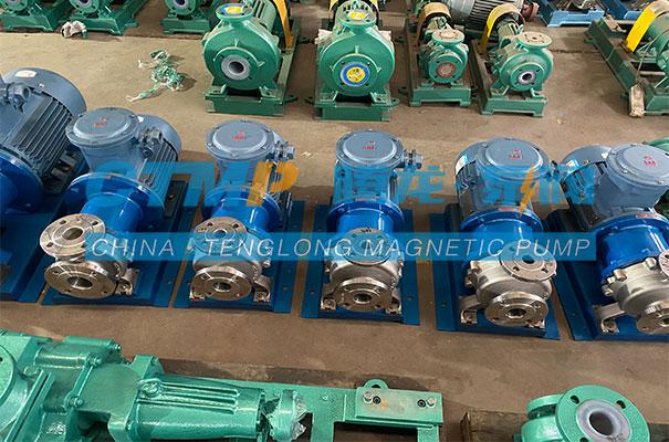 腾龙一批TMC不锈钢磁力泵发往湖北汉光科技