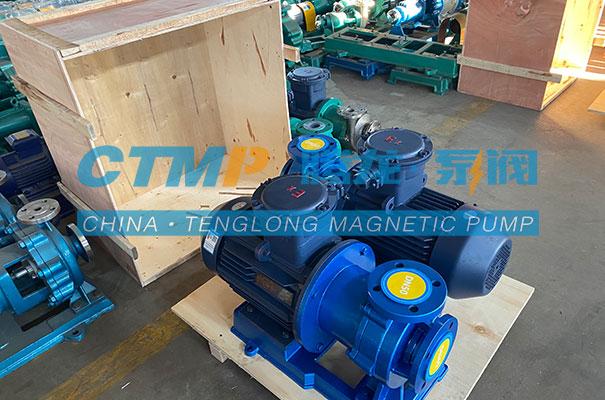 腾龙一批TMF氟塑料磁力泵发往福建天辰耀隆