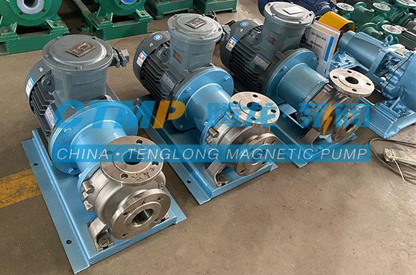 腾龙一批TMC不锈钢磁力泵发往江苏韵蓝环保