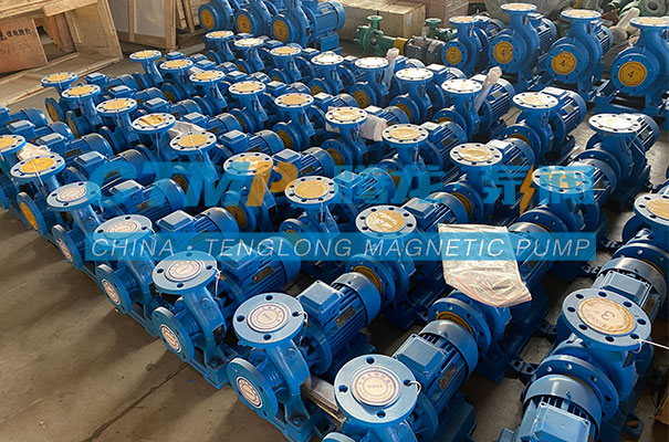 腾龙一批ISW卧式管道泵发往辽宁东泽生物能源
