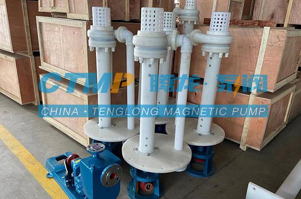 腾龙一批FYH氟塑料液下泵发往安徽海德化工