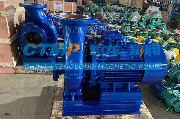 腾龙ISW卧式管道泵发往苏州北控环保